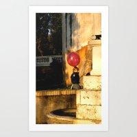 The Pink Balloon Art Print