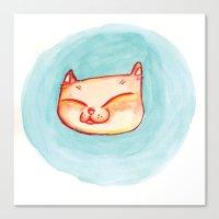 Smizing Kitten Canvas Print