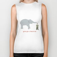 Elephant Friends Biker Tank