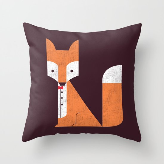 Le Sly Fox Throw Pillow
