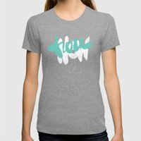 Here Now Womens Fitted Tee Tri-Grey SMALL