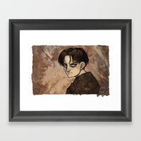 Coffee Painting - Levi Framed Art Print