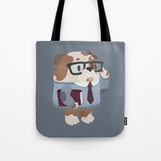 Smart Bulldog Character Tote Bag