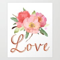 Pretty Pink Garden Flowe… Art Print
