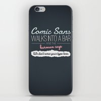Poor Comic Sans iPhone & iPod Skin