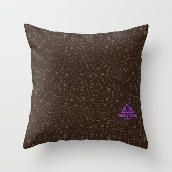 Trail Status / Brown Throw Pillow