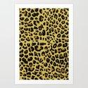 Jaguar Texture Art Print