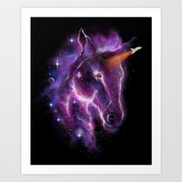 galaxy of the unicorn  Art Print