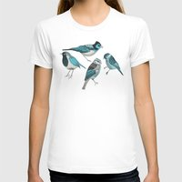 birds T-shirts featuring pale green birds by Polkip