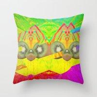 Kiwi Fun Throw Pillow
