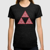 Power Womens Fitted Tee Tri-Black SMALL