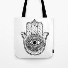 Hamsa white Tote Bag