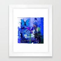 No Way No How < The NO Series (Blue) Framed Art Print