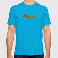 The Essential Patterns of Childhood - Dog Mens Fitted Tee Teal SMALL