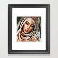 Framed Art Print featuring PEARL  by ShekariArt