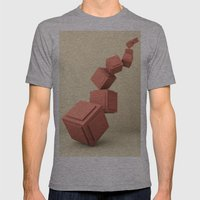 Gravity Mens Fitted Tee Athletic Grey SMALL