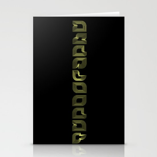 Typography Stationery Card