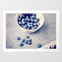 Fresh Blueberries Kitche… Art Print