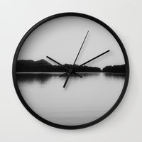 Herring Lake Black And W… Wall Clock