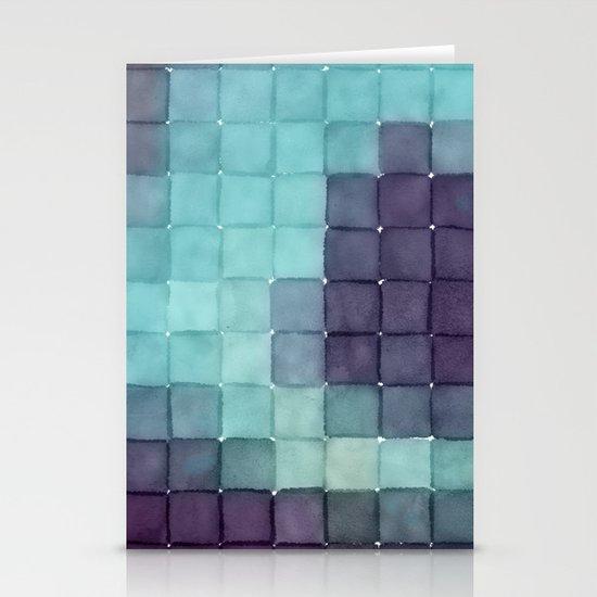 Polaroid Pixels II (Tree) Stationery Card