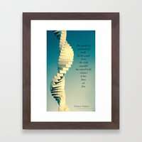 Spiral Sculpt and quote Framed Art Print