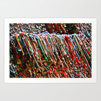 Gum Alley Art Print