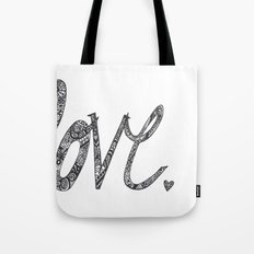 Love Zentangle  Tote Bag