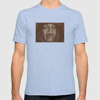 round 2...joe frazier Mens Fitted Tee Athletic Blue SMALL