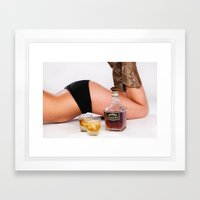 Bottoms up! Framed Art Print