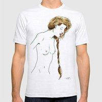 Plait Girl Mens Fitted Tee Ash Grey SMALL