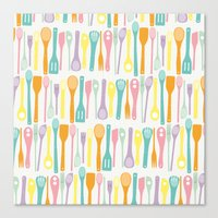 Candy Utensils Canvas Print