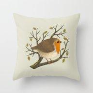 A Robin Throw Pillow