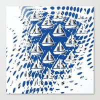 Sailing. Canvas Print