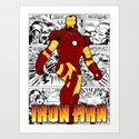 Iron Man Comic Art Print