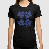 Tea Time Reversed Womens Fitted Tee Tri-Black SMALL
