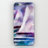 Sailing The Coast Of San Diego by Sherri Of palm Springs/ abstract iPhone & iPod Skin