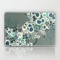 Diagonal Flower – Blue… Laptop & iPad Skin