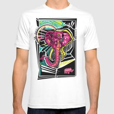Nalubuff - Elephant SMALL White Mens Fitted Tee