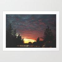 southbound skies. Art Print