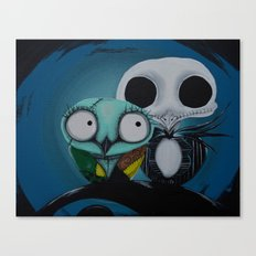 The Owl Jack And Sally Canvas Print