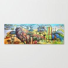 Aslam and Earth Canvas Print