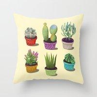 Cactus Collection Throw Pillow