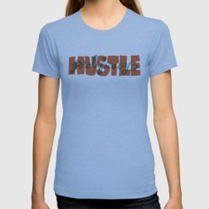 Hustle & Prolificacy Womens Fitted Tee Athletic Blue SMALL