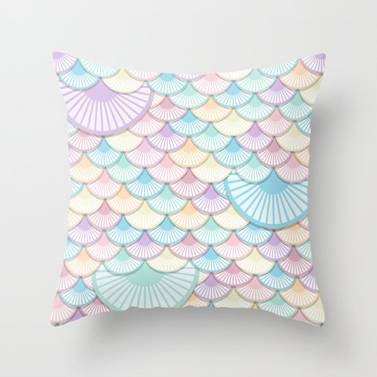 Pastel Wagon Wheels Throw Pillow