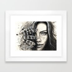 Freckly Framed Art Print