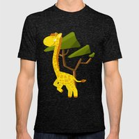 Giraffe Mens Fitted Tee Tri-Black SMALL