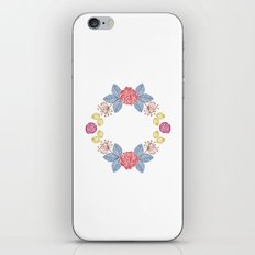 Hand Drawn Floral Wreath Design iPhone & iPod Skin