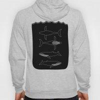 Humpback Whale on black Hoody