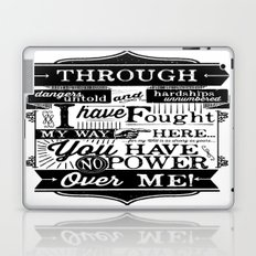 Labyrinth Quote You Have No Power Over Me Laptop & iPad Skin