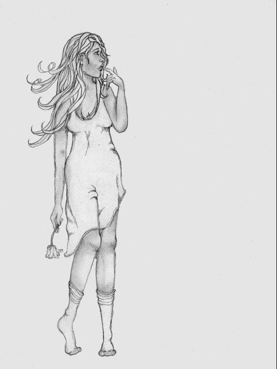 Lady in Wait Art Print